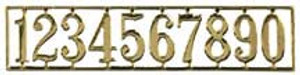 HW1147 - House Numbers - Brass