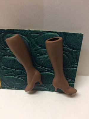 Dollhouse Miniature – BROWN LEGS - Porcelain Doll Kit Legs Only