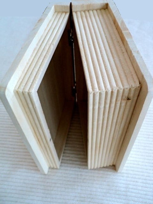 "15531 - Book - Display - Wood - 8"" H x 6"" W x 3"" D"
