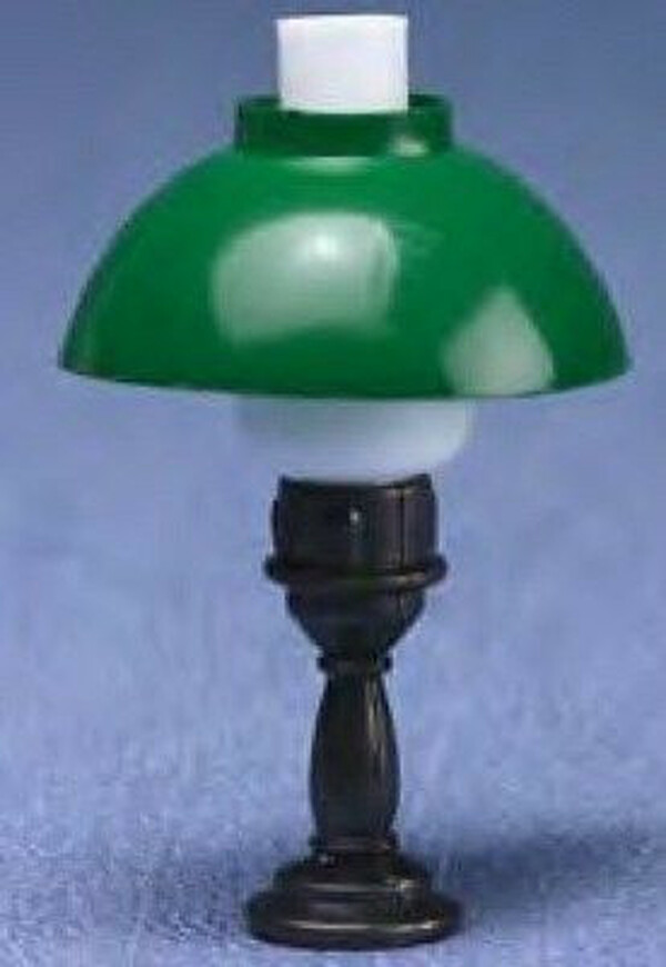 Dollhouse Miniature -  MH855 - Karo Table Lamp - Green Shade