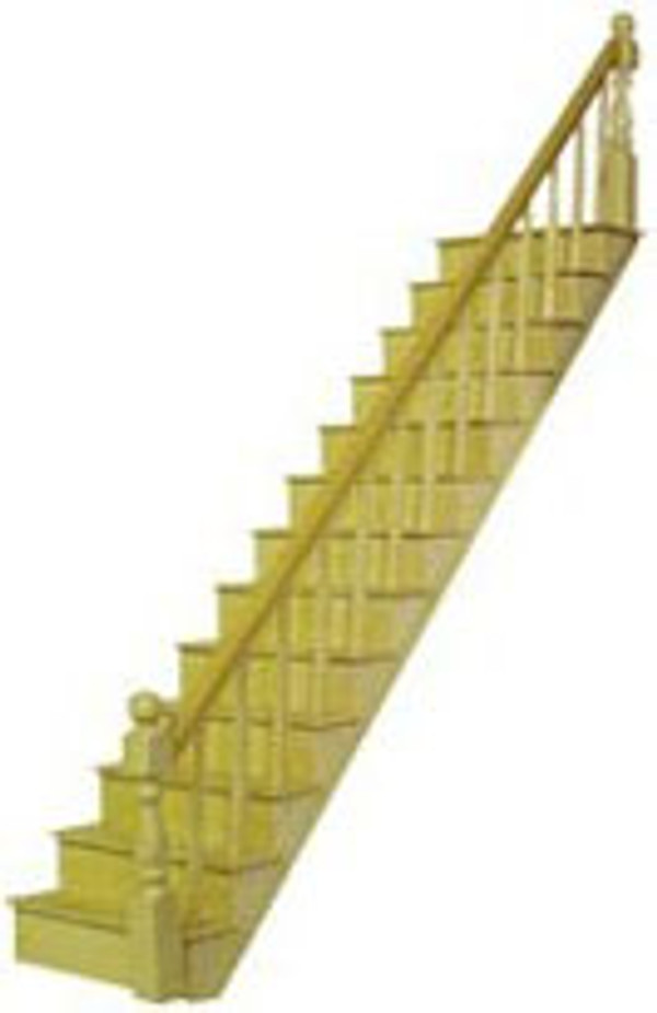 "Dollhouse Miniature - HW H7000 - 1/2"" Scale Staircase Kit"