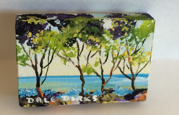 Dollhouse Miniature - 311413 - Painting - OOAK Hand Painted - Summer Trees & Lake Canvas