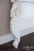 PRE ORDER: French carved headboard - antique white, King