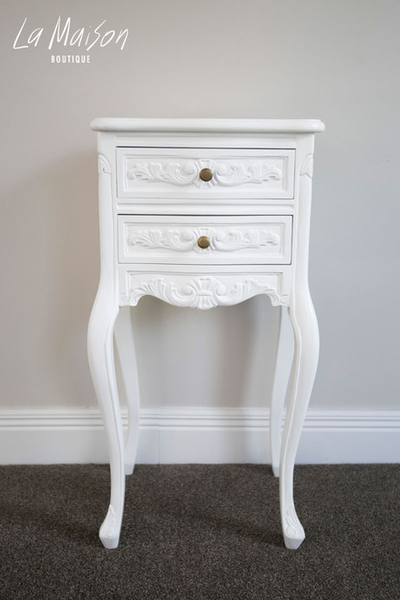 PRE ORDER: Bedside Table - antique white