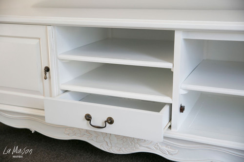 PRE ORDER: Sideboard/ TV cabinet/ Entertainment unit - white