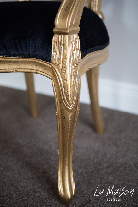 IN STOCK NOW: Rosebud Arm Chair - gold