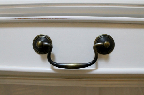 IN STOCK NOW : Dressing table two drawers - white