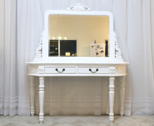 IN STOCK NOW : Dressing Table Two Drawers   White