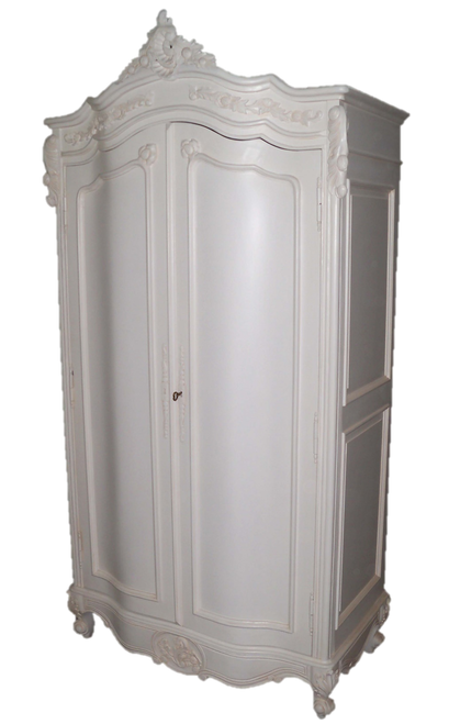 PRE ORDER: Two door Armoire - solid white
