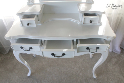 IN STOCK NOW: Dressing table three drawers - white