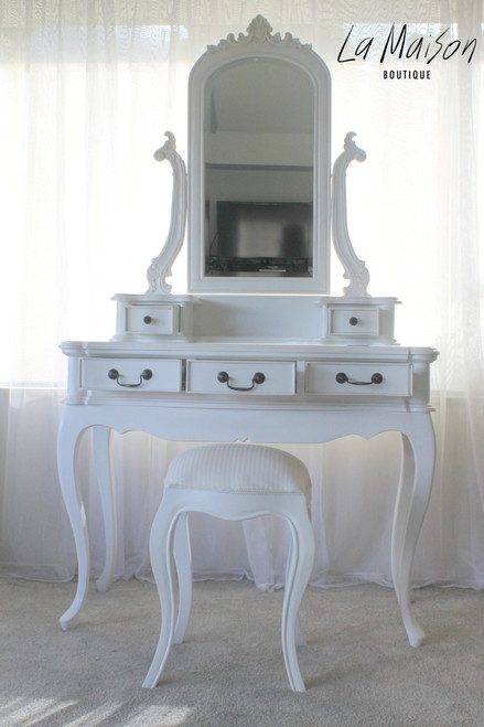 IN STOCK NOW: Dressing Table Three Drawers   White