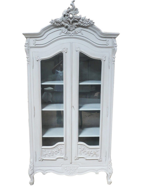 PRE ORDER: Display Cabinet - flower carved