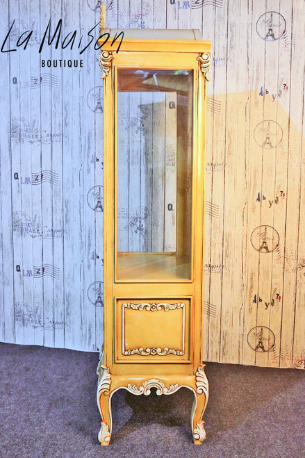 PRE ORDER: Glass display cabinet - antique