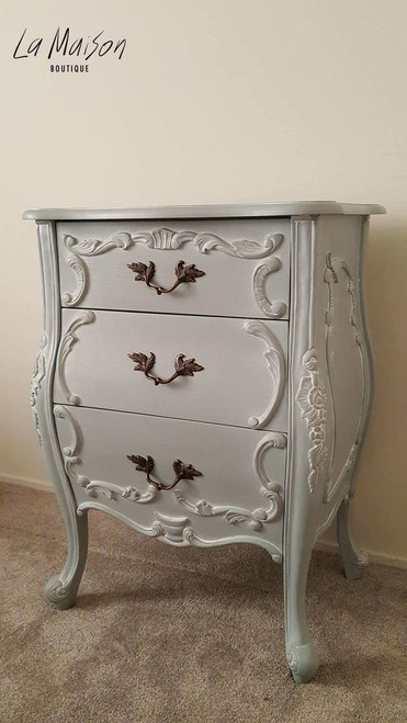 IN STOCK NOW: Three Drawer Chest - antique grey/ white