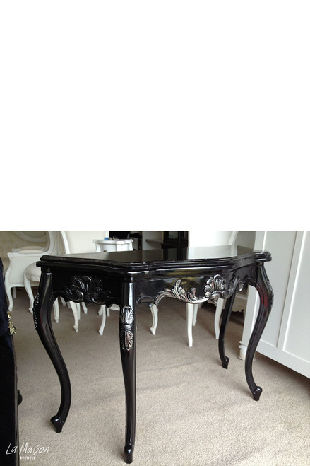 IN STOCK NOW: Serpentine Wall Table - Black & Silver