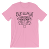 Classic Tribal Head Unisex short sleeve t-shirt - Pink