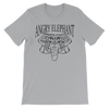 Classic Tribal Head Unisex short sleeve t-shirt - Silver