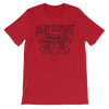 Classic Tribal Head Unisex short sleeve t-shirt - Red
