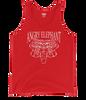 Tribal Head Unisex Tank Top - Red