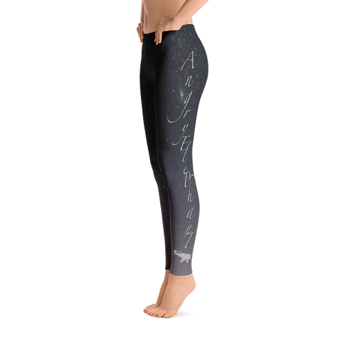 AE Galaxy Black Leggings - Left