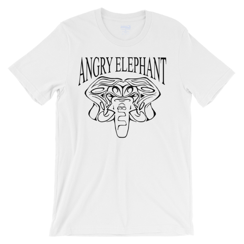 Classic Tribal Head Unisex short sleeve t-shirt - White