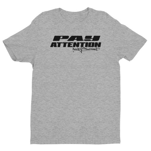 Pay Attention Short sleeve men's t-shirt - Grey/Black