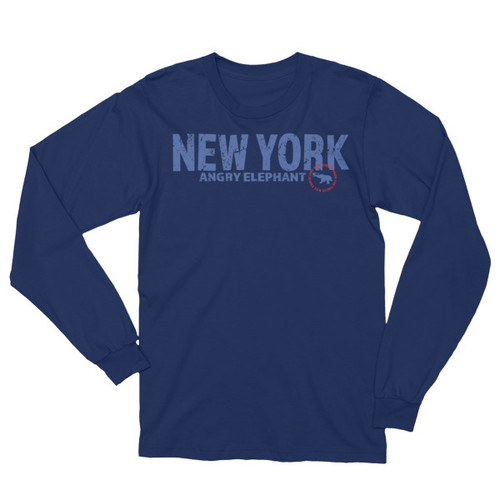 NEW YORK CIRCLE. Unisex Long Sleeve T-Shirt
