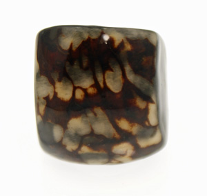 Eco-Chic Tagua Nut Marble Ring - Black
