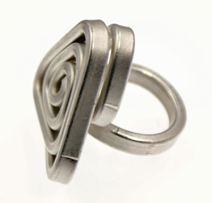 Recycled Aluminum Ring - Triangle