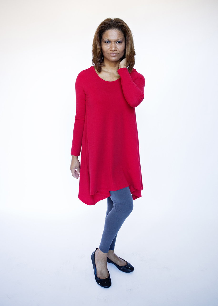 Pima Cotton Tunic - Red