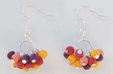 Chirilla Cluster Earrings  - Winter Warm