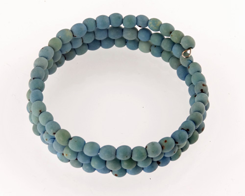 Chirilla Seed Bracelet on Memory Wire - Blue