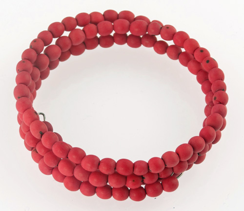 Chirilla Seed Bracelet on Memory Wire - Red