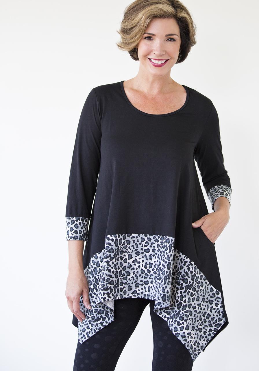 Leopard Tunic - Black