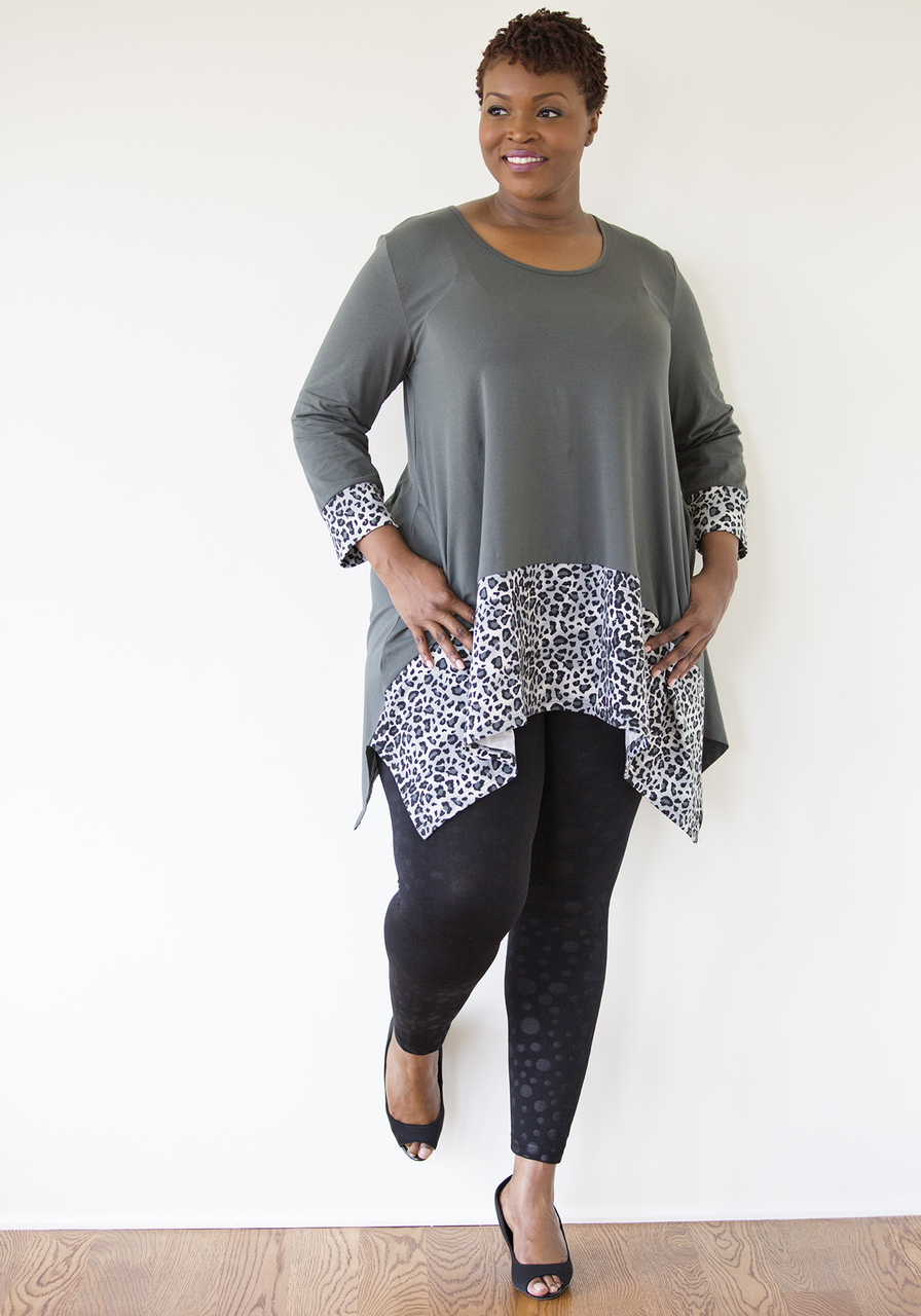 Leopard Tunic - Gray