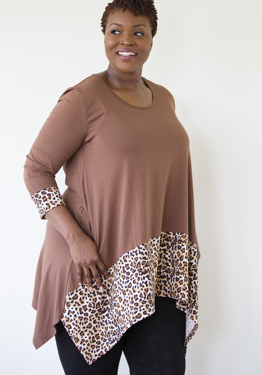 Leopard Tunic - Brown