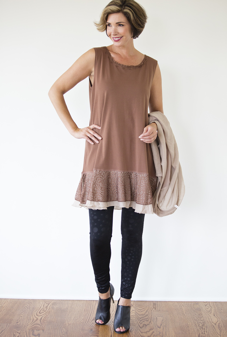Sofia Dress - Brown