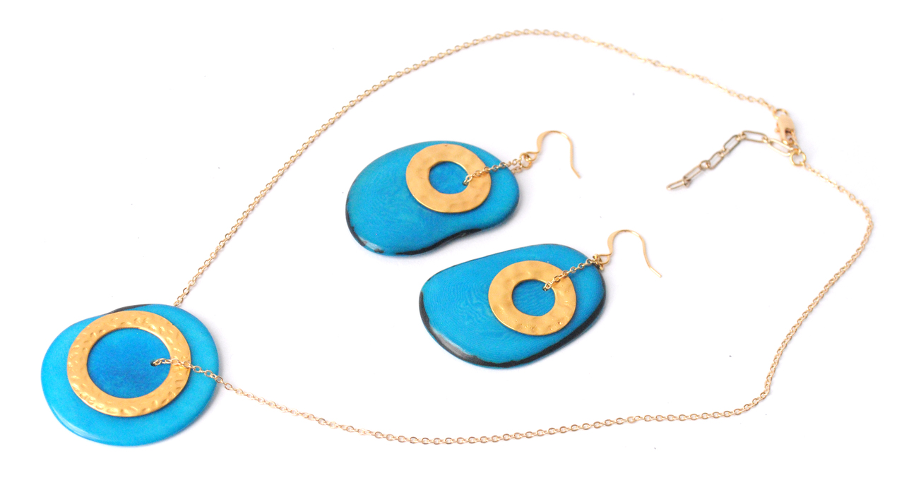 Solar Eclipse Necklace – Blue