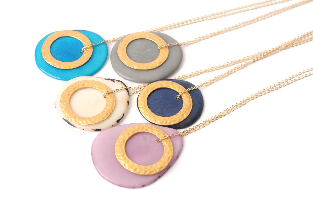 Solar Eclipse Necklace –Lavender