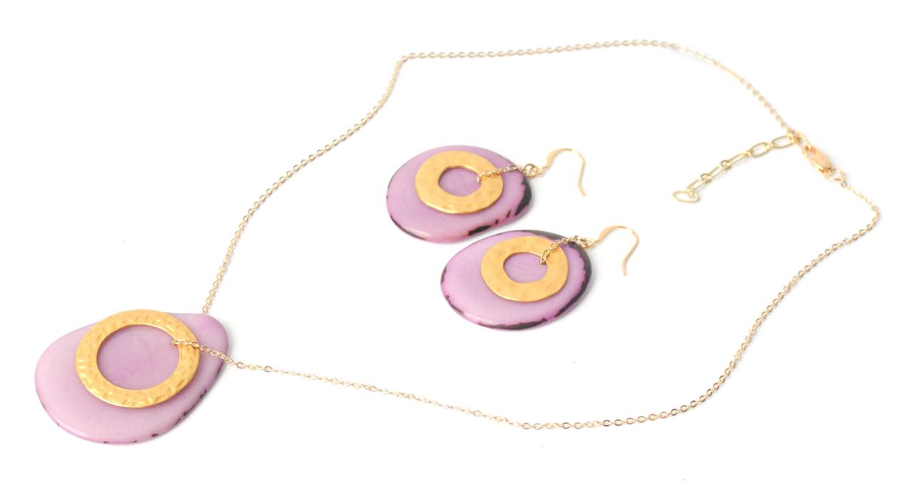 Solar Eclipse Earrings –Lavender