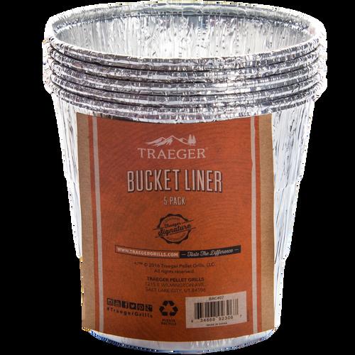 TRAEGER PELLET GRILL BAC407 BUCKET LINER - 5 PACK