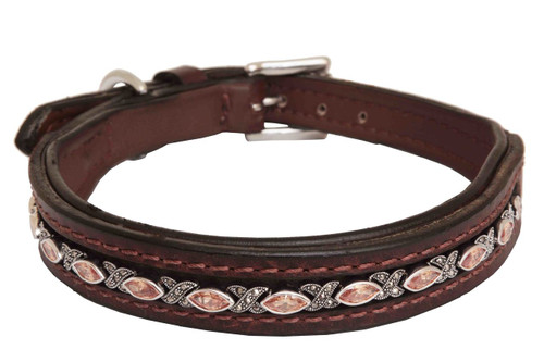 Dog Collar Large Hampton Champagne Design