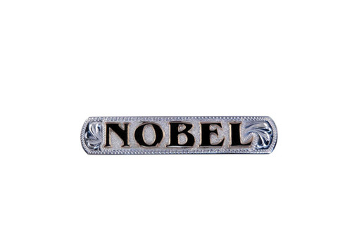 Nameplate Raised Letters Sterling Silver Overlay Background Jewelers Brass Letters 2 1/2""