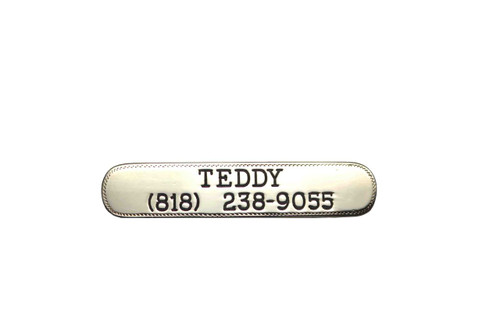 Nameplate Engraved Jewelers Brass