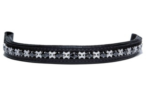 Browband Ice Black Clear Design