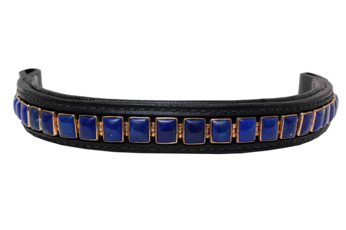 Browband Custom Blue Lapis Lazuli Design