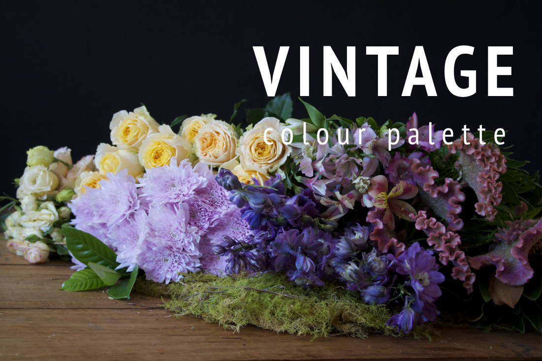 "Example of the ""Vintage"" seasonal flower colour palette."