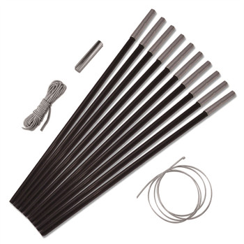 Universal 9.5mm Replacement Fibreglass 10 Pole Pack