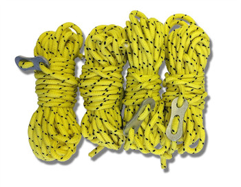 Universal 5 Metre Hi Vis Yellow Guylines (Pack of 4)