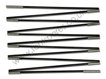 Gelert Morpheus 6 Black Fibreglass Side Door Pole